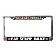 Eat Sleep Bake License Plate Frame