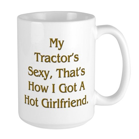 Farmer Hot Girlfriend Large Mug