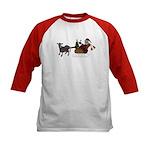 Christmas Cow & Santa Kids Baseball Jersey