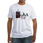 Farm Christmas Fitted T-Shirt