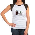 Farm Christmas Women's Cap Sleeve T-Shirt