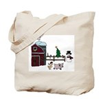 Farm Christmas Tote Bag
