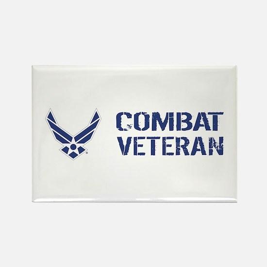 USAF: Combat Veteran Rectangle Magnet