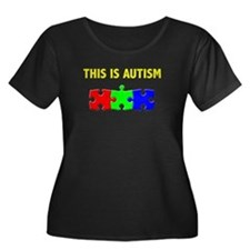 This Is Autism Scoop Dark Plus Size T-Shirt