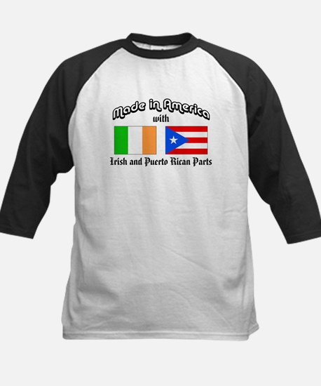 Irish-Puerto Rican Kids Baseball Jersey