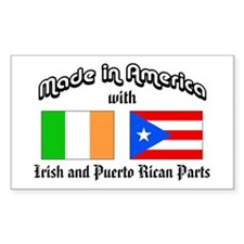 Irish-Puerto Rican Rectangle Decal
