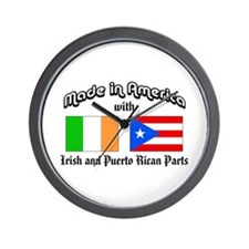 Irish-Puerto Rican Wall Clock