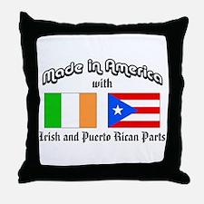 Irish-Puerto Rican Throw Pillow