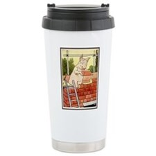 """Pig Handyman/Bricklayer"" Travel Mug"