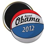 Obama Basketball Button Magnets