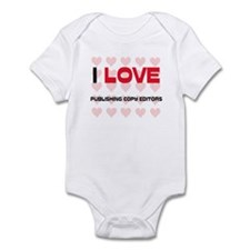 I LOVE PUBLISHING COPY EDITORS Infant Bodysuit