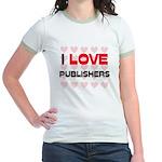 I LOVE PUBLISHERS Jr. Ringer T-Shirt