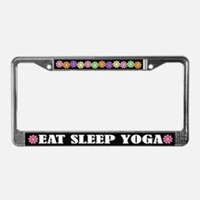 Eat Sleep Yoga License Plate Frame