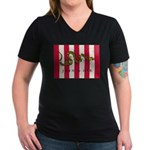 Sons of Liberty Women's V-Neck Dark T-Shirt