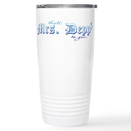 Mrs. Depp Stainless Steel Travel Mug