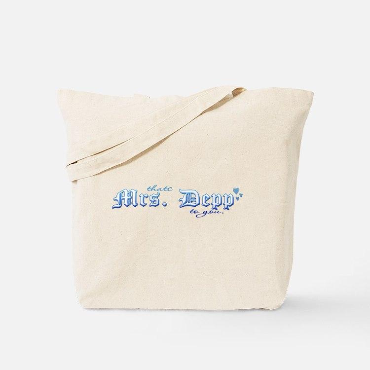 Mrs. Depp Tote Bag