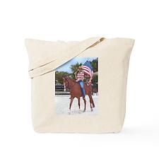 Lady Liberty, Freedom Rides Tote Bag