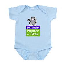 Don't Delay (Cat) - Neuter or Spay Infant Bodysuit