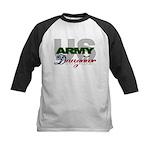 US Army Daughter Kids Baseball Jersey