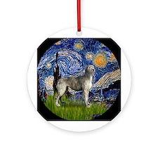 Starry Night Irish Wolfhound Ornament (Round)