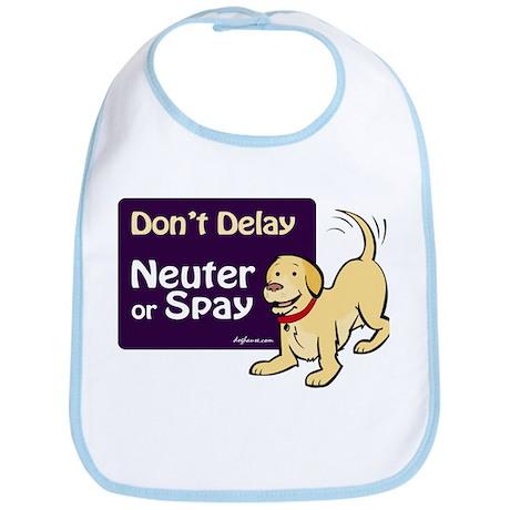 Don't Delay (Dog) - Neuter or Spay Bib
