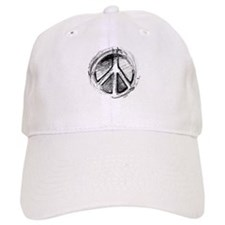 Grunge Urban Peace Sign Baseball Cap