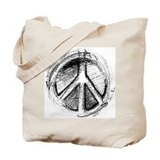Grunge Urban Peace Sign Tote Bag
