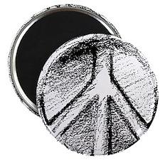 Grunge Urban Peace Sign Magnet