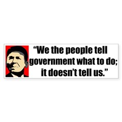 Reagan Quote - We the People Bumper Sticker