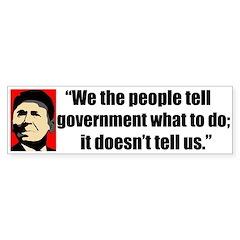 Reagan Quote - We the People Bumper Bumper Sticker
