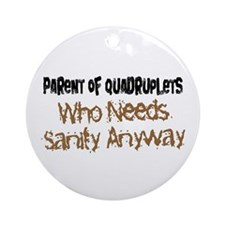 Parent Of Quadruplets Ornament (Round)