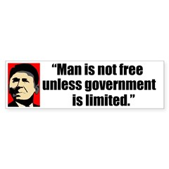 Reagan Quote - Man is not fre Bumper Sticker