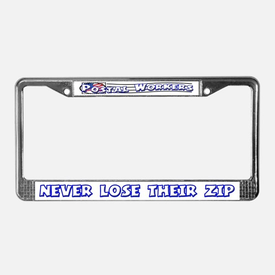 Postal Worker License Plate Frame