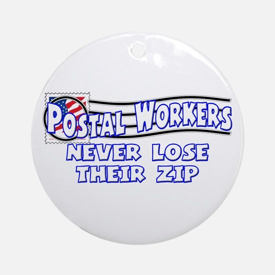 Postal Worker Ornament (Round)