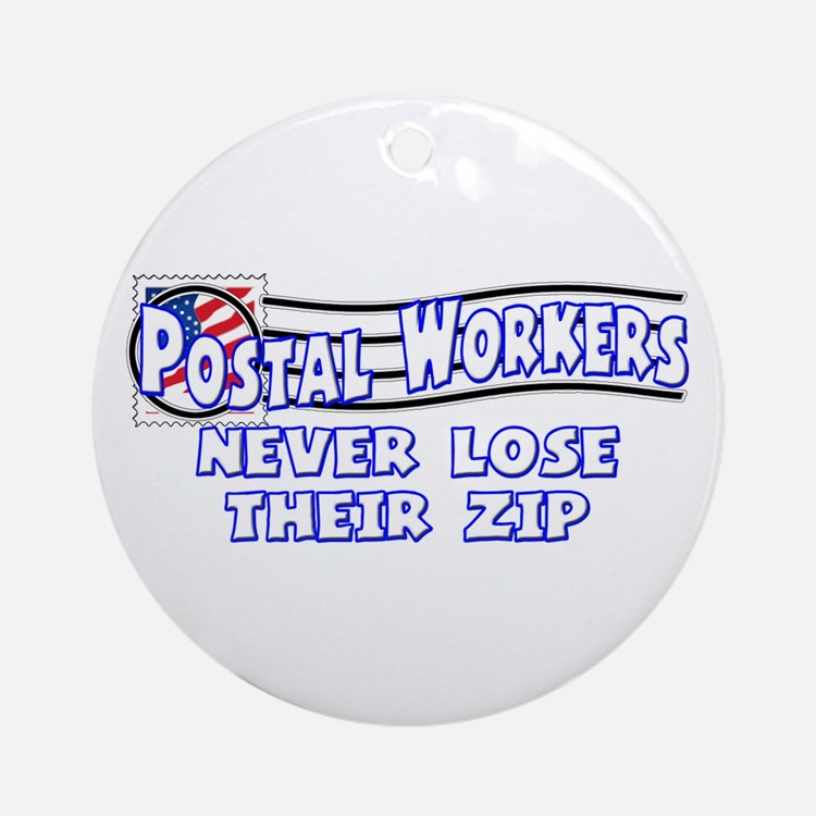 Postal Worker Ornament (Round)