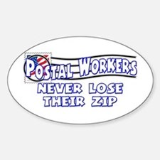 Postal Worker Oval Decal