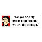 Reagan Quote - We are the cha Sticker (Bumper 50 p