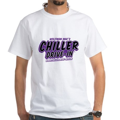 Chiller Drive-In - PURPLE - White T-Shirt