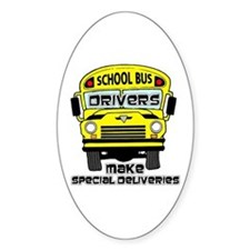 School Bus Driver Oval Decal