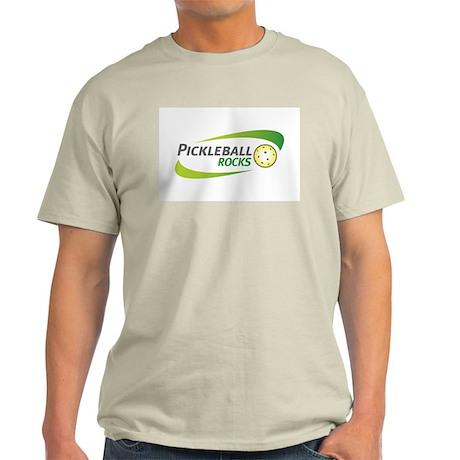 Pickleball Rocks Light Colored T-Shirt