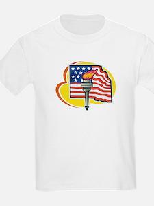 US Flag & Liberty Fire T-Shirt