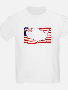 USA Flag with Outline T-Shirt