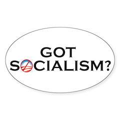 Got Socialism? Oval Decal