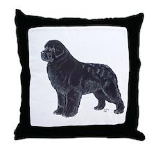Newfoundland Black Throw Pillow