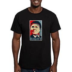 Reagan Right Men's Fitted T-Shirt (dark)