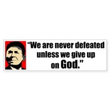 Reagan Quote - We are never Bumper Bumper Sticker