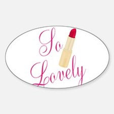 So Lovely Red Lipstick Decal