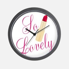 So Lovely Red Lipstick Wall Clock