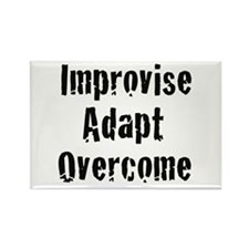 Improvise. Adapt. Overcome Rectangle Magnet