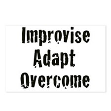 Improvise. Adapt. Overcome Postcards (Package of 8